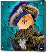 Pomeranian Art Canvas Print Acrylic Print