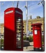 Post Box Phone Box Acrylic Print
