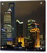 Pudong At Night Acrylic Print