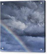 Rainbow Over Pasture Field Acrylic Print