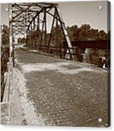 Route 66 - One Lane Bridge Acrylic Print