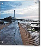 Saint Mary's Lighthouse At Whitley Bay Acrylic Print