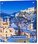 Salzburg In Winter Acrylic Print