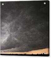 Severe Warned Nebraska Storm Cells Acrylic Print