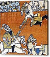 Shahnameh Ferdowsi Rostam And Sohrab Photos Of Persian Antique Rugs Kilims Carpets  Acrylic Print
