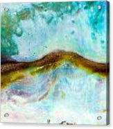 Shiny Nacre Of Paua Or Abalone Shell Background Acrylic Print