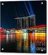 Singapore City Skyline Acrylic Print