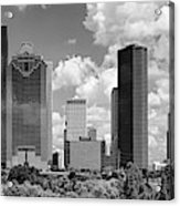 Skyscrapers In A City, Houston, Texas Acrylic Print