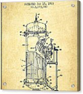 Space Capsule Patent From 1963 Acrylic Print by Aged Pixel