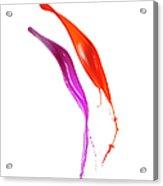 Splashing Of The Color Paint Acrylic Print