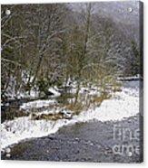 Spring Snow Williams River  Acrylic Print