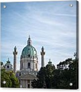 St. Charles Church  - Karlskirche -  In Vienna Acrylic Print