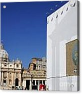 St Peter's Square. Vatican City. Rome. Lazio. Italy. Europe  Acrylic Print