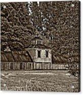 5 Star Barn Monochrome Acrylic Print