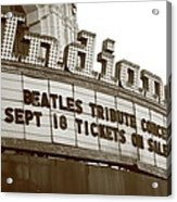 Terre Haute - Indiana Theater Acrylic Print