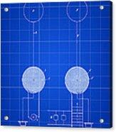 Tesla Electric Transmission Patent 1900 - Blue Acrylic Print