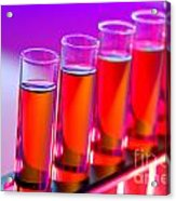 Test Tubes In Science Research Lab Acrylic Print