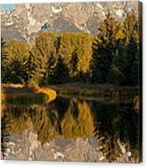 The Grand Tetons Schwabacher Landing Grand Teton National Park Acrylic Print