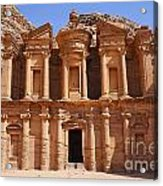 The Monastery At Petra In Jordan Acrylic Print