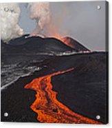 Tolbachik Volcano Erupting Kamchatka Acrylic Print