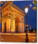 Twilight At Arc De Triomphe Acrylic Print