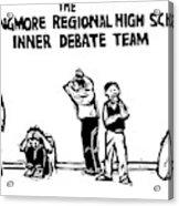 The Langmore Regional High School Inner Debate Acrylic Print