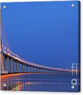 Vasco Da Gama Bridge In Lisbon Acrylic Print