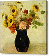 Vase Of Flowers Acrylic Print by Odilon Redon