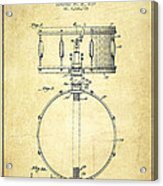 Snare Drum Patent Drawing From 1939 - Vintage Acrylic Print