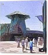 Visitors Heading Towards The Waterworld Attraction Acrylic Print