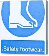 Warning Sign Acrylic Print