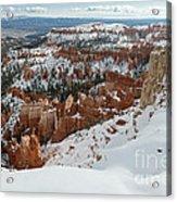Winter Scene, Bryce Canyon National Park Acrylic Print