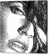 Woman Sketch Acrylic Print