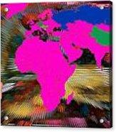 World Map And Human Life Acrylic Print