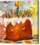 50 Candles The Big B Day Acrylic Print