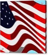 50 Star American Flag Closeup Abstract 7 Acrylic Print