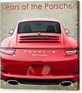 50 Years Of The Porsche 911 E182 Acrylic Print