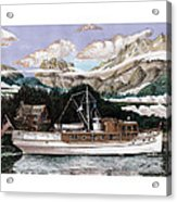 North To Alaska On A 53 Foot Classic Yacht  Acrylic Print