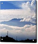 View Of Mt. Etna From Taormina Sicily Acrylic Print