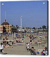 558 Pr Santa Cruz Main Beach Acrylic Print