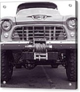 56 Chevy Truck In Bw Acrylic Print