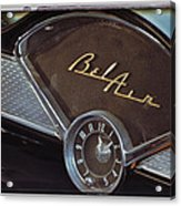 57 Chevy Bel Air Dash Acrylic Print