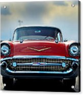 57 Chevy Full Frontal Acrylic Print