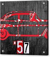 57 Chevy License Plate Art Acrylic Print