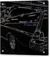57 Chevy Neon Glow Acrylic Print by Steve McKinzie