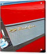 57 Chevy Tail Fin Acrylic Print