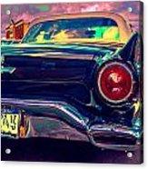 57 Ford T Bird Tail Acrylic Print