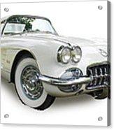 59-60 Corvette White On White Acrylic Print