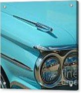 59 Pontiac Catalina Hood Ornament Acrylic Print