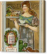 1890s France Liebig Cigarette Card Acrylic Print